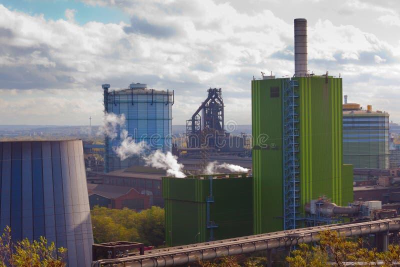 Il ferro funziona l'industria a Duisburg, Germania, Europa immagine stock libera da diritti