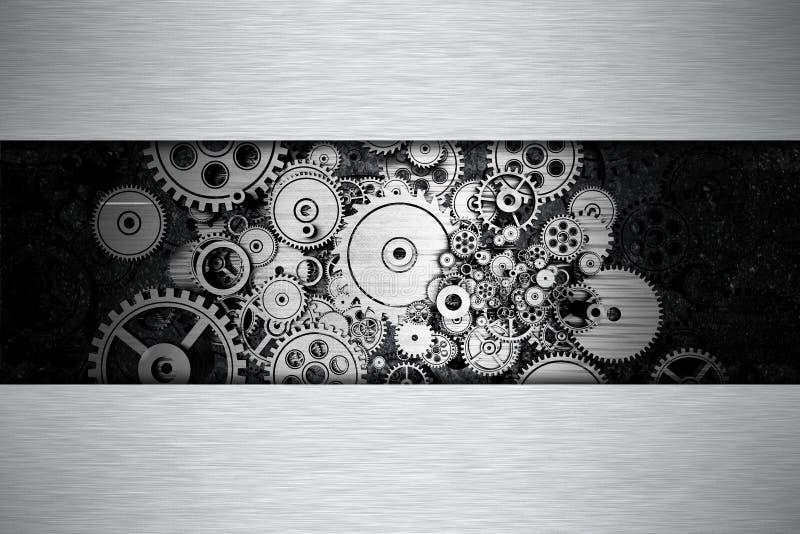 Il ferro innesta il fondo del metallo illustrazione vettoriale