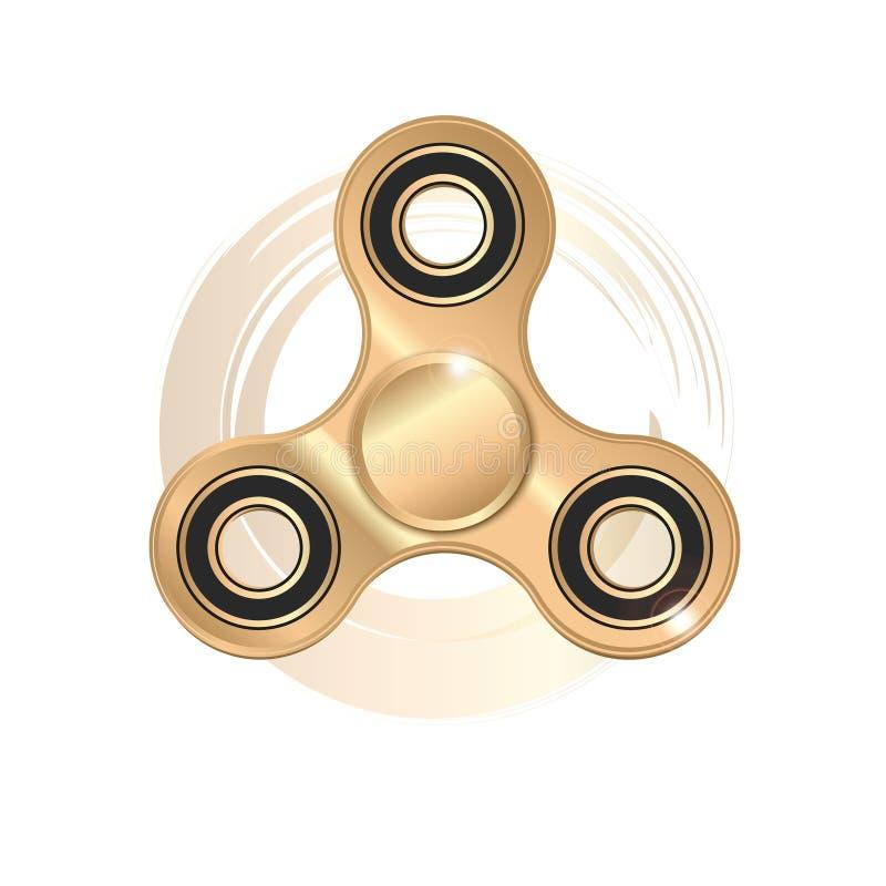 Il filatore di irrequietezza dell'icona è un giocattolo moderno per rimozione di sforzo ed addestramento del dito illustrazione di stock