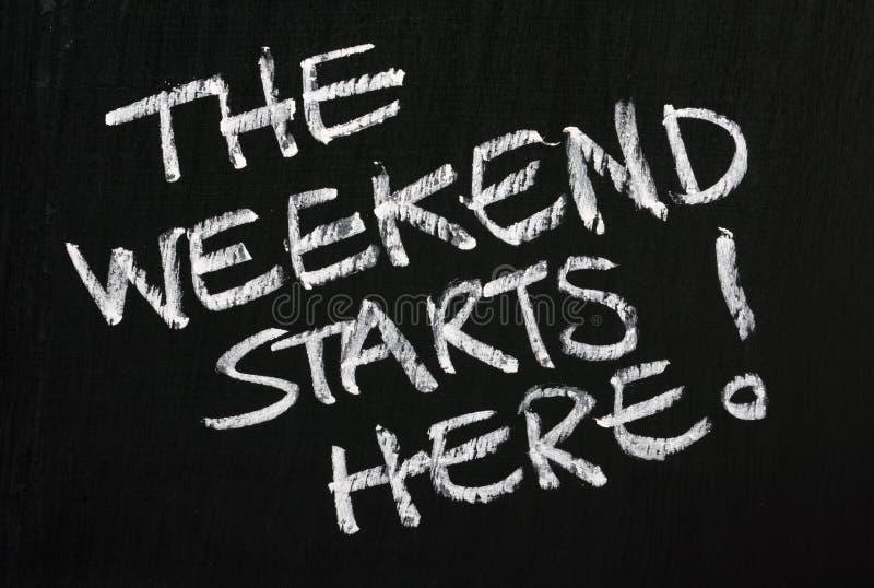Il fine settimana comincia qui! fotografie stock libere da diritti