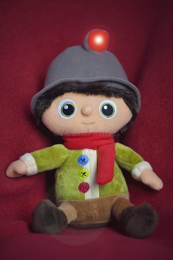 Il finlandese è la mascotte ed il protagonista negli annunci di promozione di Natale della catena di Migros fotografia stock libera da diritti