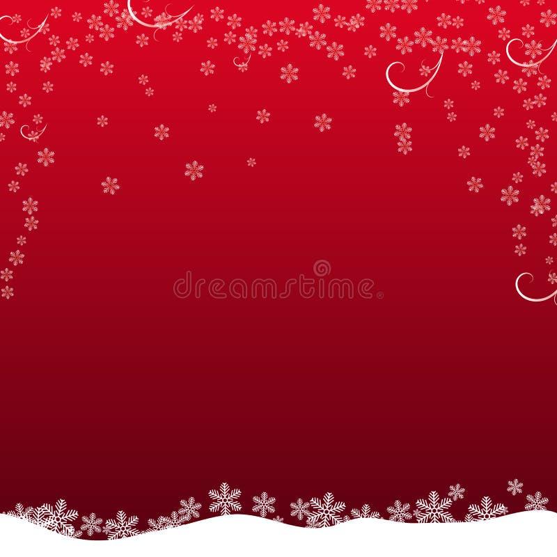 Il fiocco di neve di Natale con la luce della stella di notte e la caduta della neve sottraggono l'illustrazione eps10 di vettore royalty illustrazione gratis