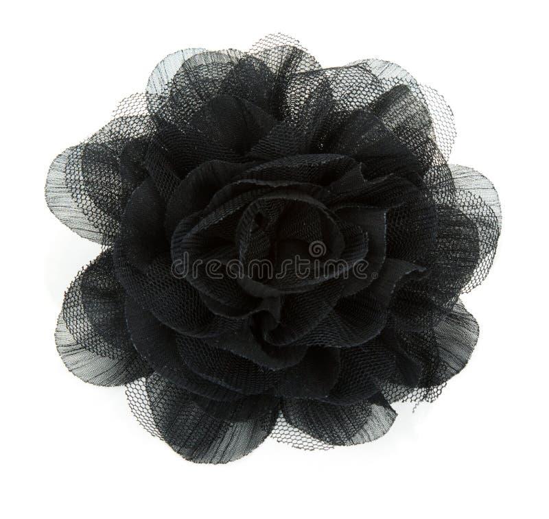Il fiore nero è aumentato da merletto fotografie stock