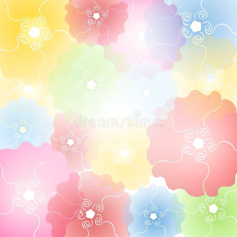Il fiore pastello sboccia priorità bassa illustrazione vettoriale