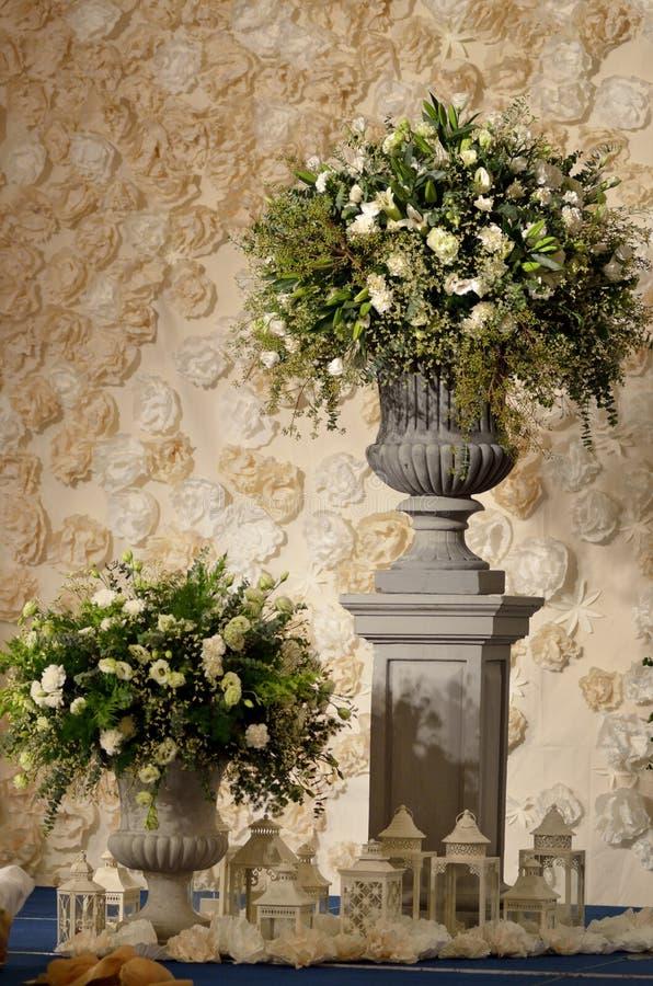 Il fiore per decora nella cerimonia di nozze immagini stock libere da diritti