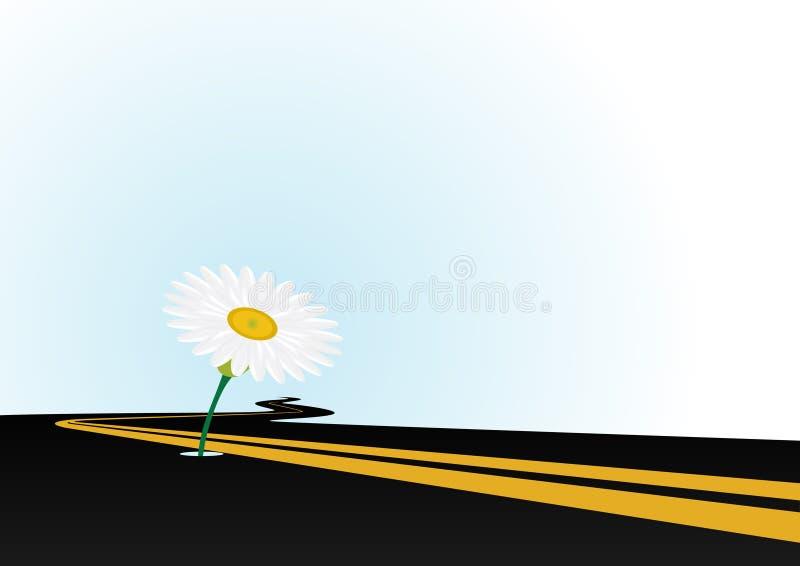 Il fiore sull'asfalto royalty illustrazione gratis