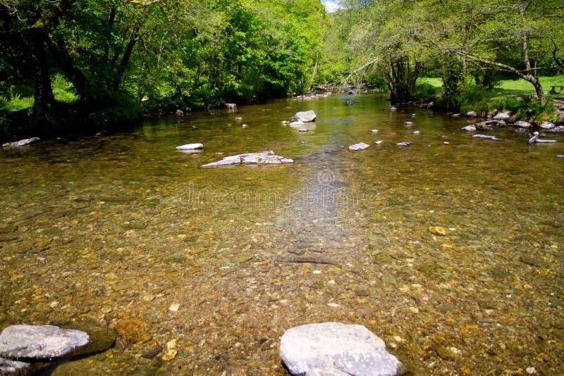 Il fiume Barle dai punti di Tarr nel Devon fotografia stock libera da diritti