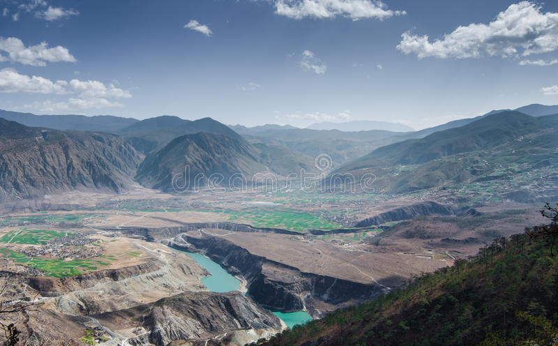 Il fiume Chang Jiang immagine stock
