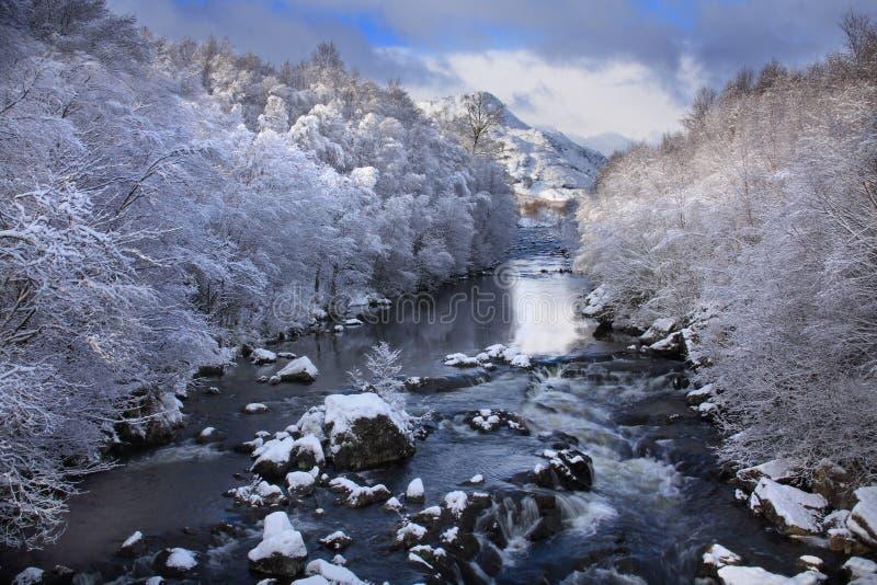 Il fiume Cluanie immagini stock