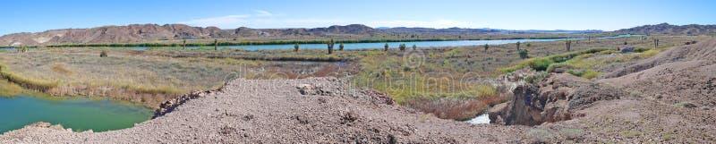 Il fiume Colorado, Arizona - panorama fotografia stock