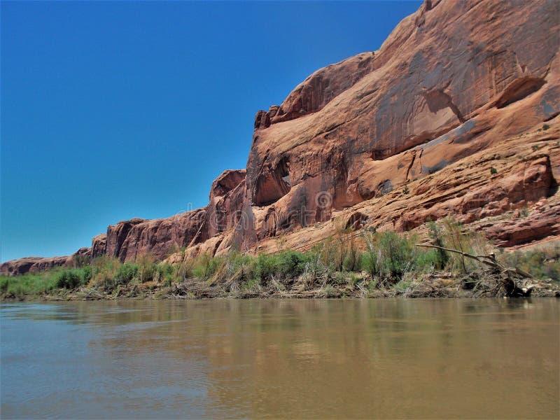 Il fiume Colorado a sud di Moab fotografie stock libere da diritti