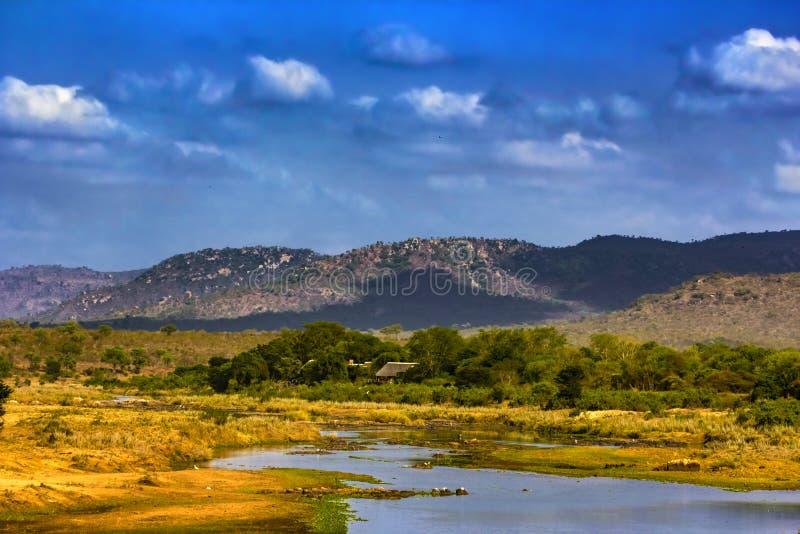 Il fiume Crocodile, Sudafrica fotografie stock
