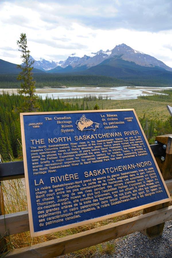 Il fiume del nord del Saskatchewan fotografia stock