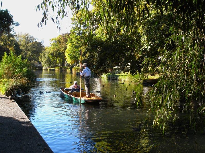 Il fiume di Avon a Christchurch fotografie stock libere da diritti