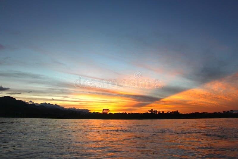 Il fiume di Beni sul tramonto fotografia stock libera da diritti