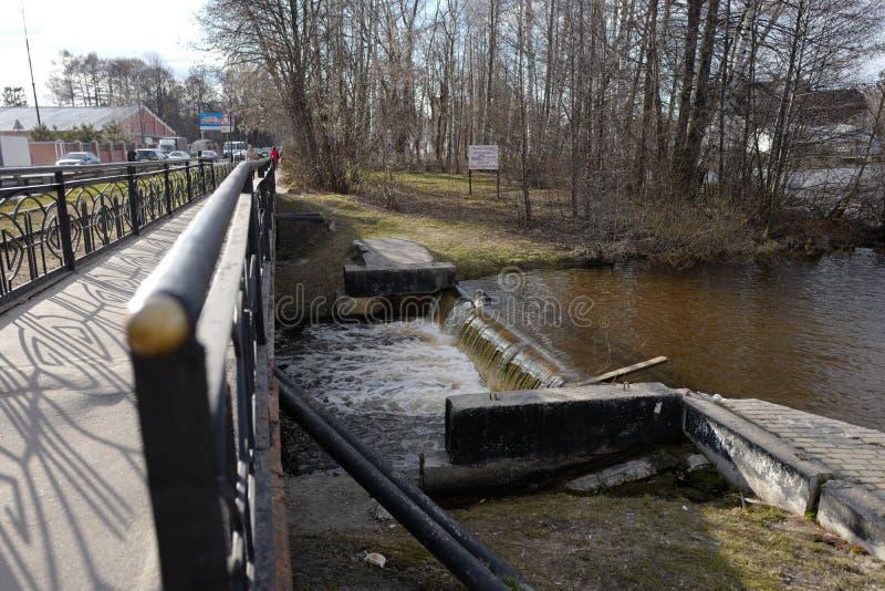 Il fiume di Chernogolovka Noginsk La Russia fotografia stock libera da diritti