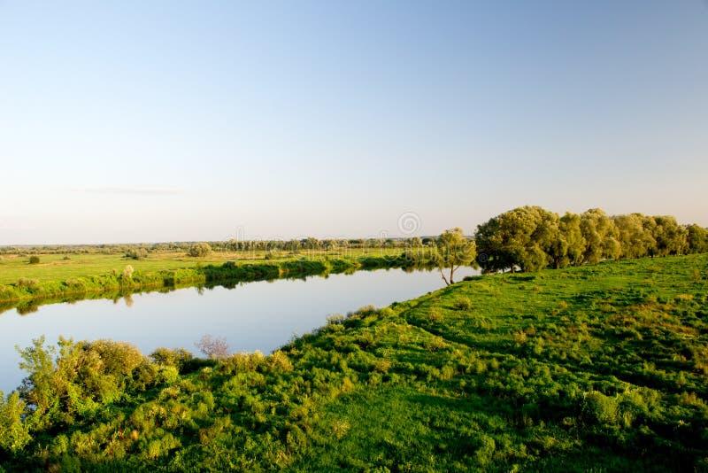 Il fiume di Dnieper fotografie stock