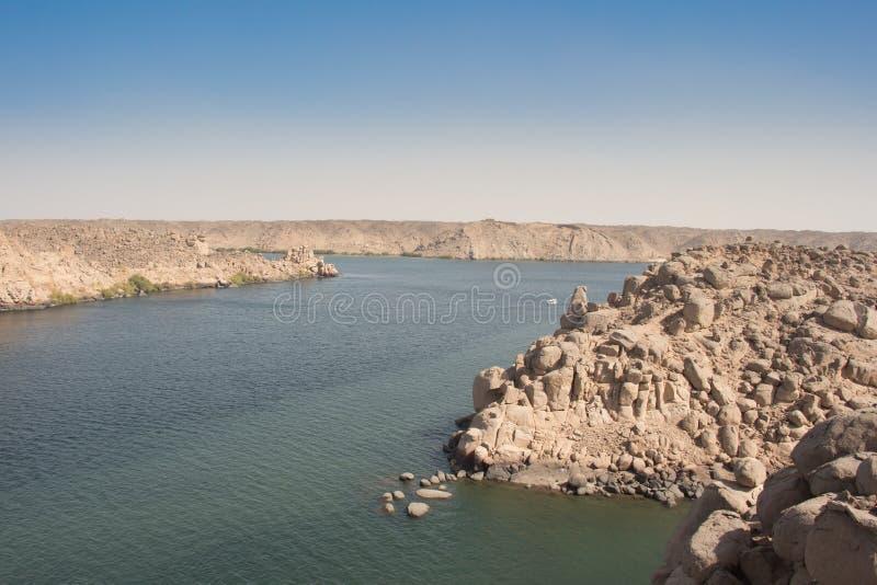 Il fiume di Nilo fotografia stock