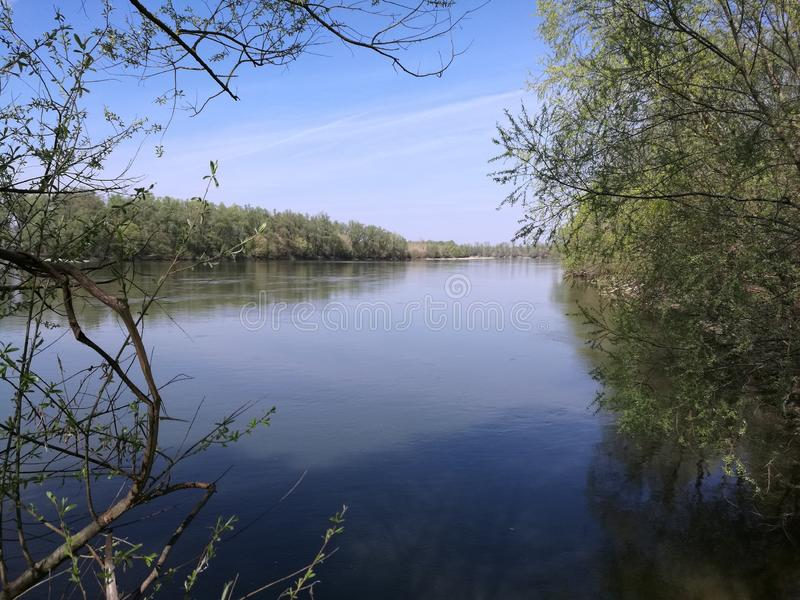 Il fiume il DRAVA fotografia stock
