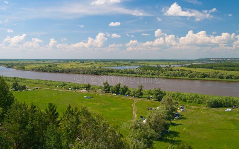 Il fiume Irtysh immagine stock libera da diritti