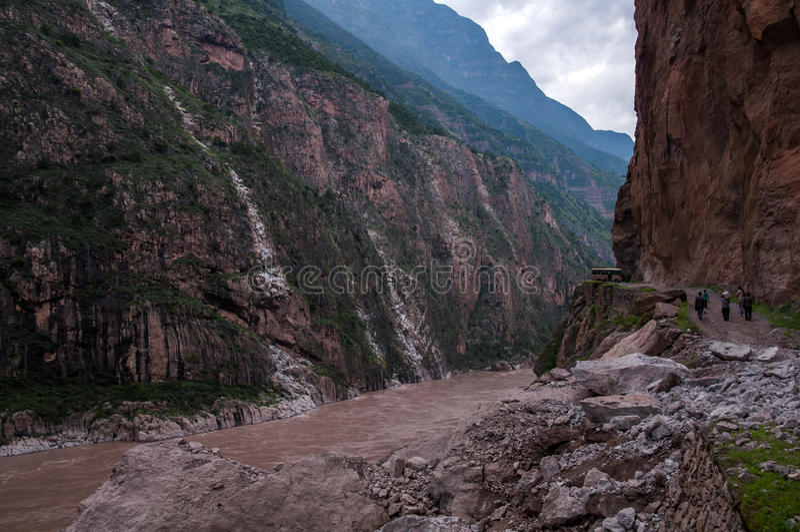 Il fiume Jinsha Grand Canyon fotografia stock