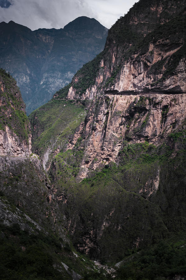 Il fiume Jinsha Grand Canyon fotografia stock libera da diritti
