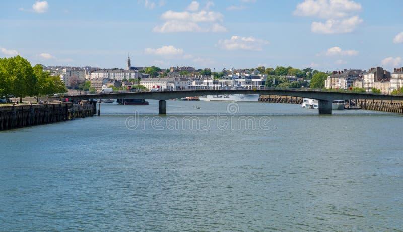 Il fiume Loira a Nantes, Francia immagini stock libere da diritti