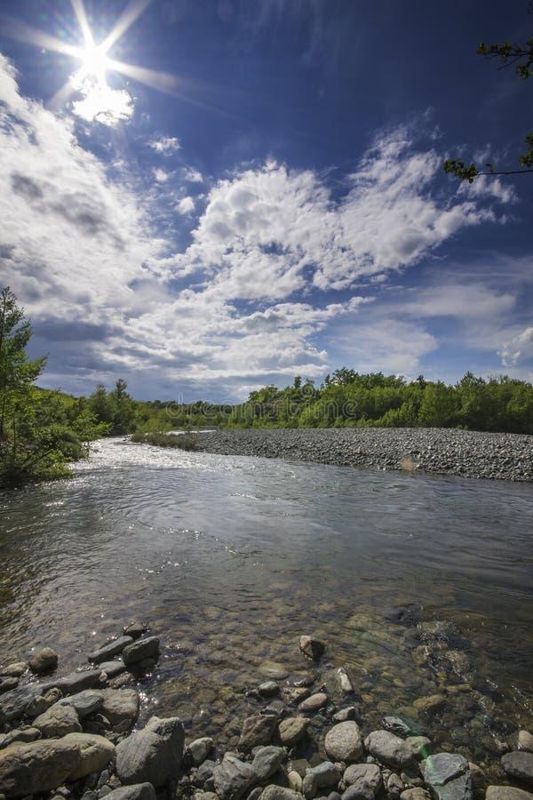 Il fiume Piota, Piemonte, Italia immagini stock