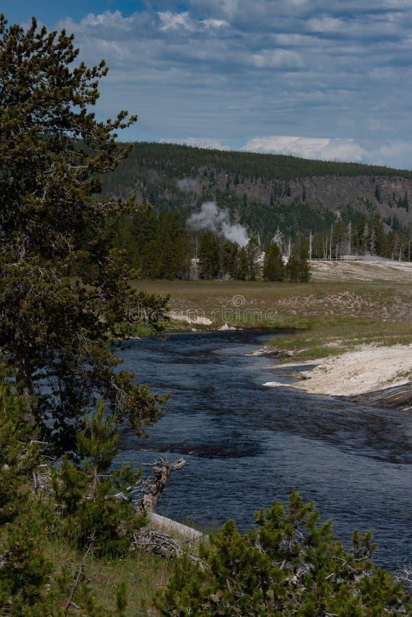 Il fiume Snake nel parco nazionale di Yellowstone fotografie stock