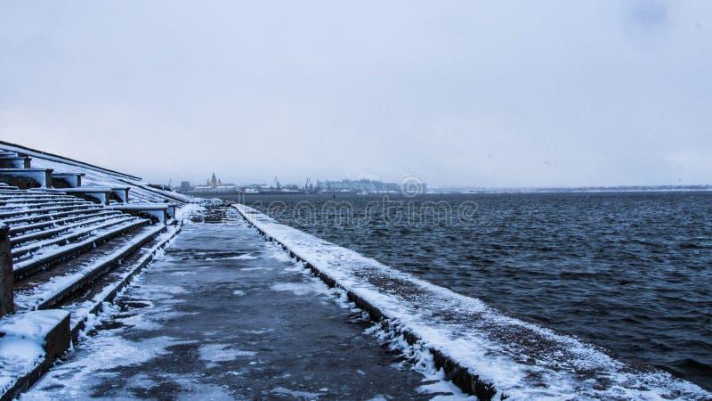Il fiume Volga immagine stock