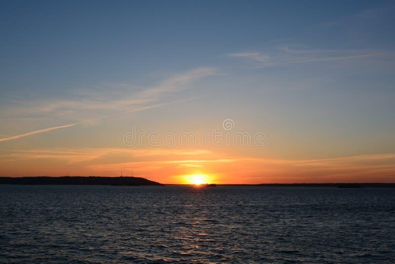 Il fiume Volga fotografia stock