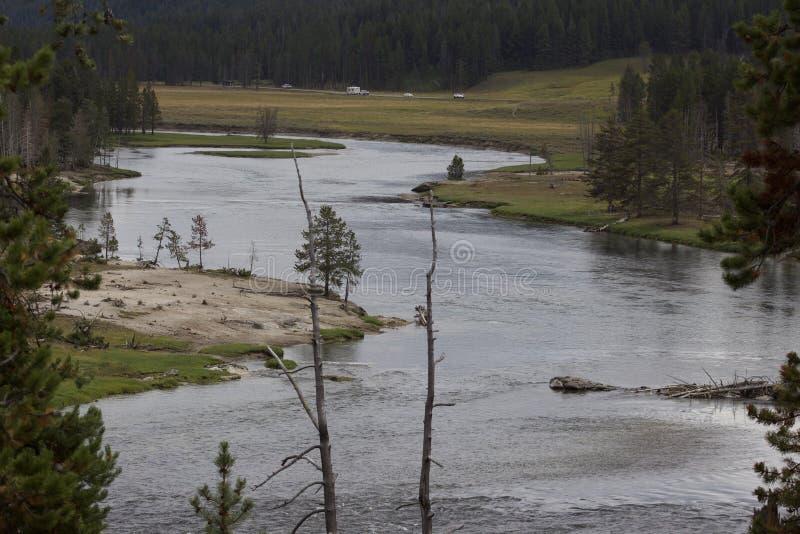 Il fiume Yellowstone fotografie stock