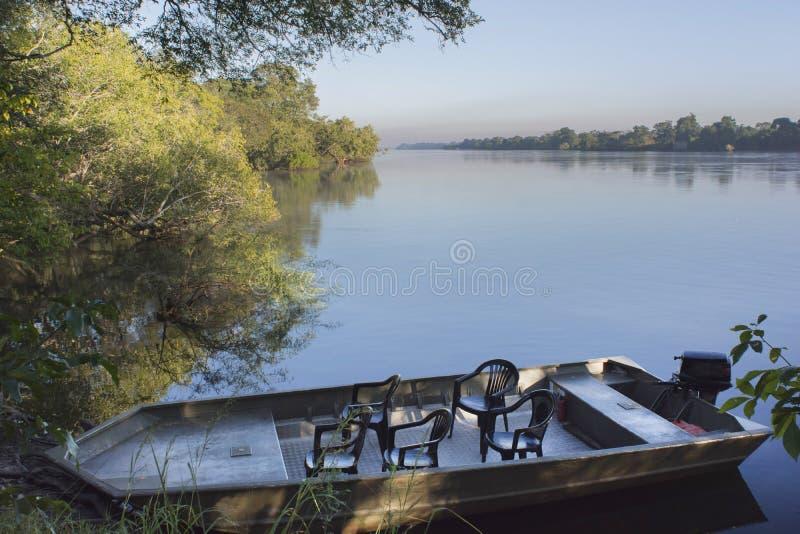 Il fiume Zambezi fotografie stock
