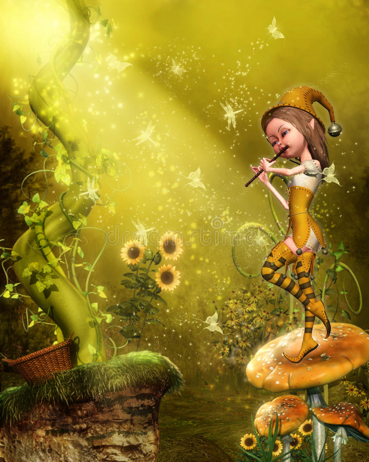 Il flautist royalty illustrazione gratis