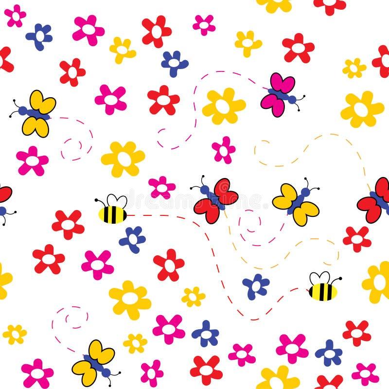 Il floreale senza giunte della priorità bassa. illustrazione di stock