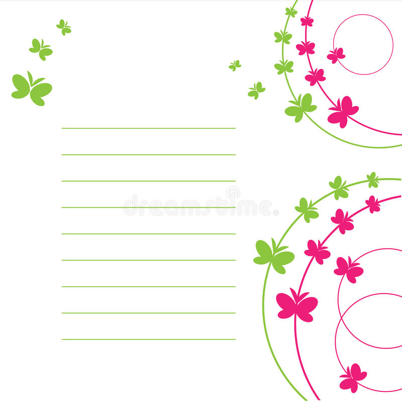 Il foglio di carta e la farfalla. fotografia stock libera da diritti