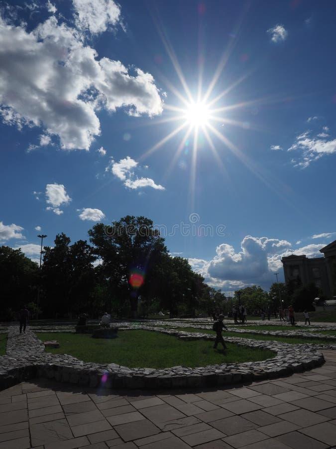 Il fondamento della chiesa del theThe delle decime o della chiesa del Dormition kiev fotografie stock