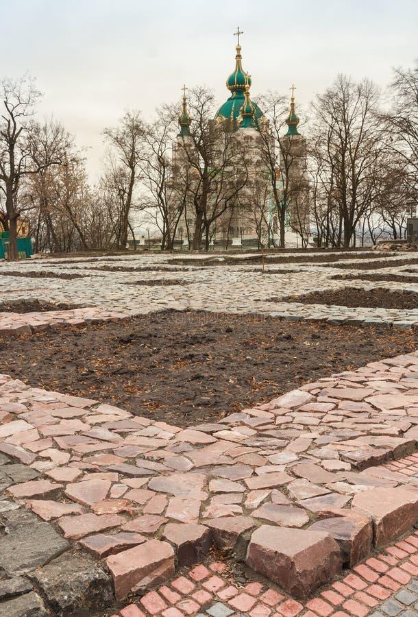 Il fondamento della chiesa di decima fondata da principe Vladimir dentro fotografia stock libera da diritti