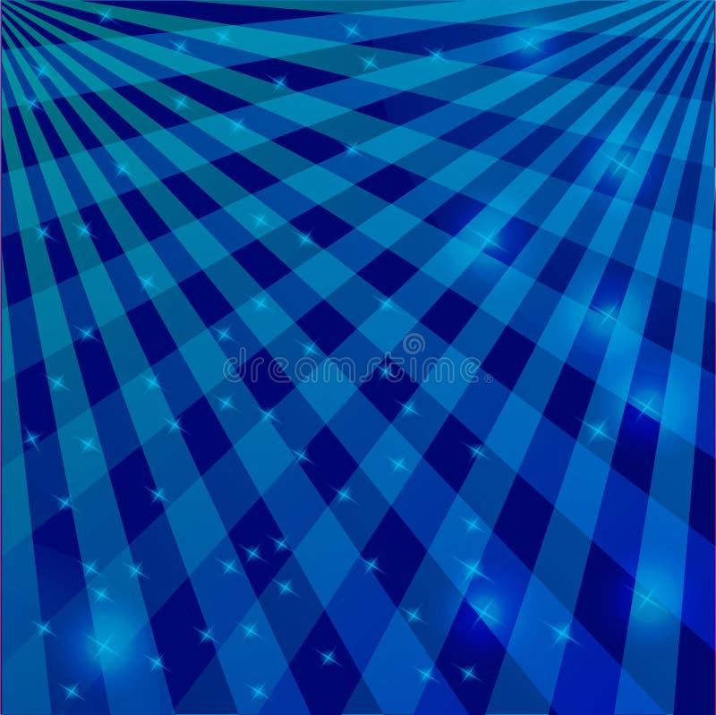 Il fondo è in un tono blu delle linee d'intersezione con le luci tremule illustrazione vettoriale