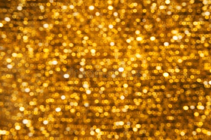 Il fondo accende l'oro di Bokeh immagini stock libere da diritti