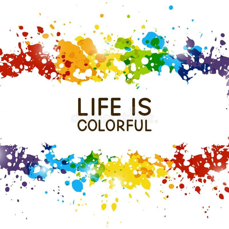 Il fondo astratto con la pittura dell'arcobaleno spruzza illustrazione di stock