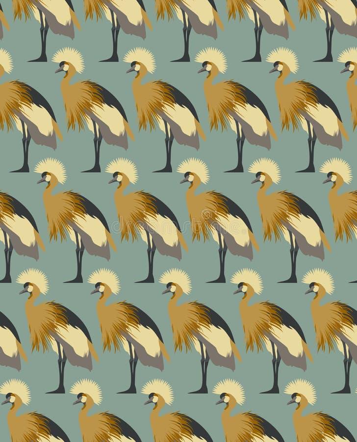 Il fondo astratto degli uccelli, adatta il modello senza cuciture, carta da parati di vettore royalty illustrazione gratis