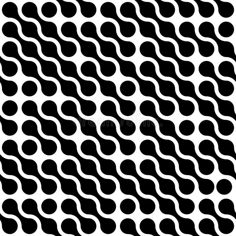 Il fondo astratto del nero ha collegato i punti nella disposizione diagonale su fondo bianco Carta da parati di tema della moleco royalty illustrazione gratis