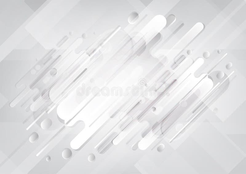 Il fondo astratto, lerciume retro per uso nella progettazione, allinea il fondo reso illustrazione vettoriale