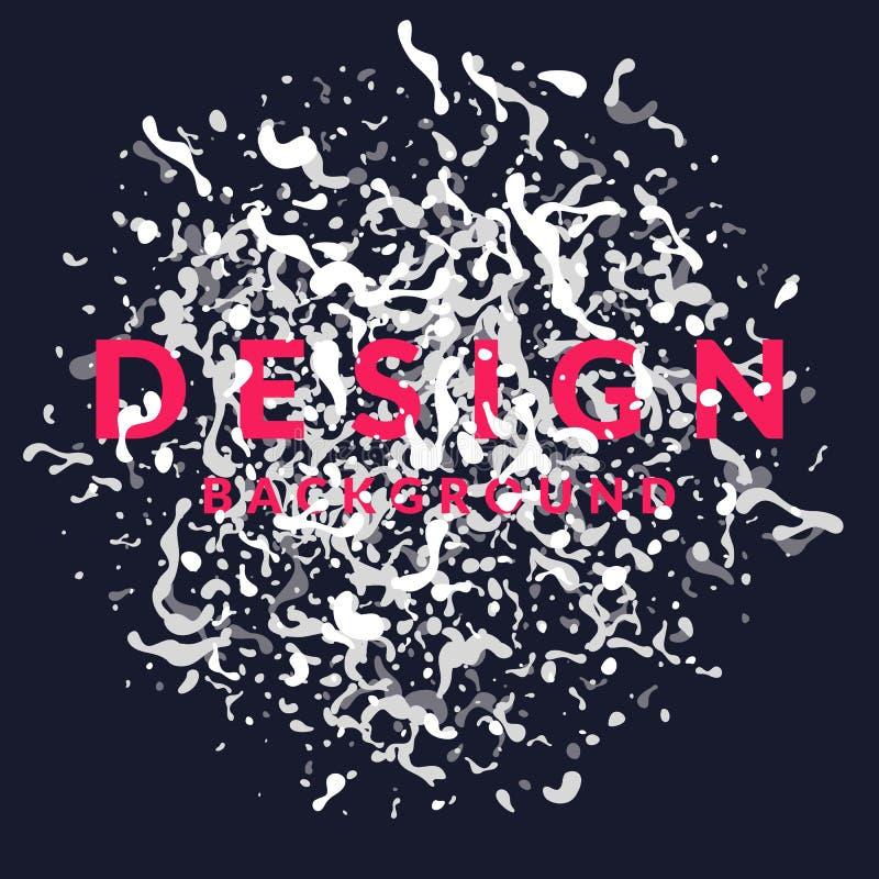 Il fondo astratto luminoso con l'esplosione di bianco spruzza e di progettazione di parola Illustrazione di vettore illustrazione vettoriale