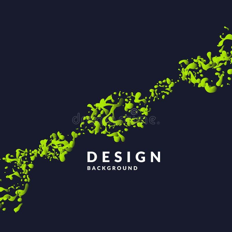 Il fondo astratto luminoso con l'esplosione di giallo spruzza e di progettazione di parola illustrazione vettoriale