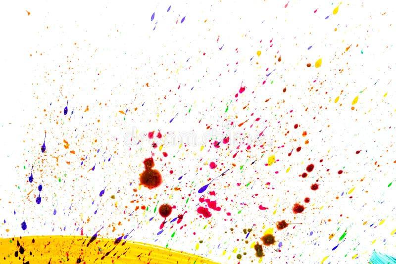 Il fondo astratto luminoso del disegno della pittura con spruzza lo spazio di struttura di vista superiore per testo immagine stock