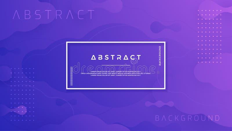 Il fondo astratto porpora blu è adatto a manifesti, l'intestazione, l'insegna di web, la pagina d'atterraggio, il fondo digitale, illustrazione di stock
