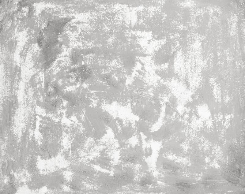 Il fondo bianco di struttura del muro di cemento di lerciume crea da plaste immagini stock libere da diritti