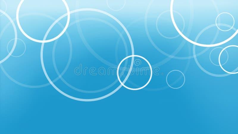Il fondo blu astratto con gli anelli del cerchio ha messo a strati nel modello fresco illustrazione vettoriale